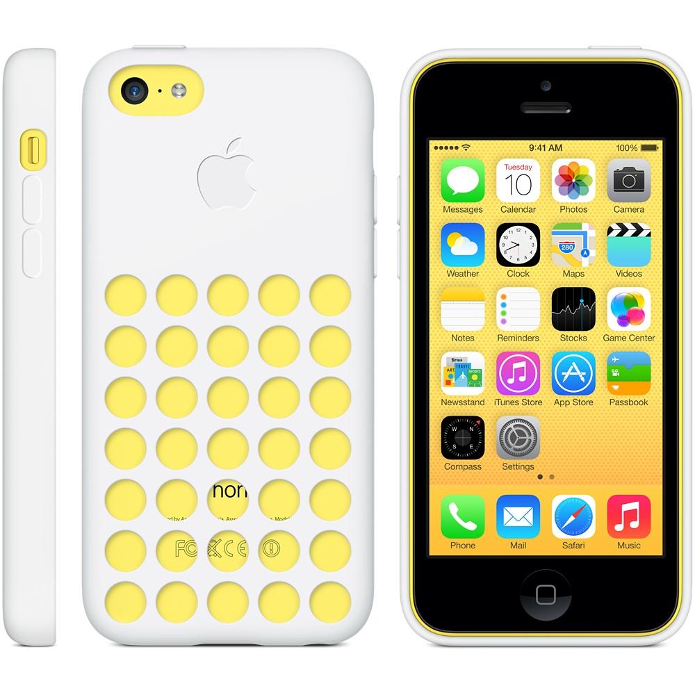 iPhone 5C Geld mit weißem Silikoncase