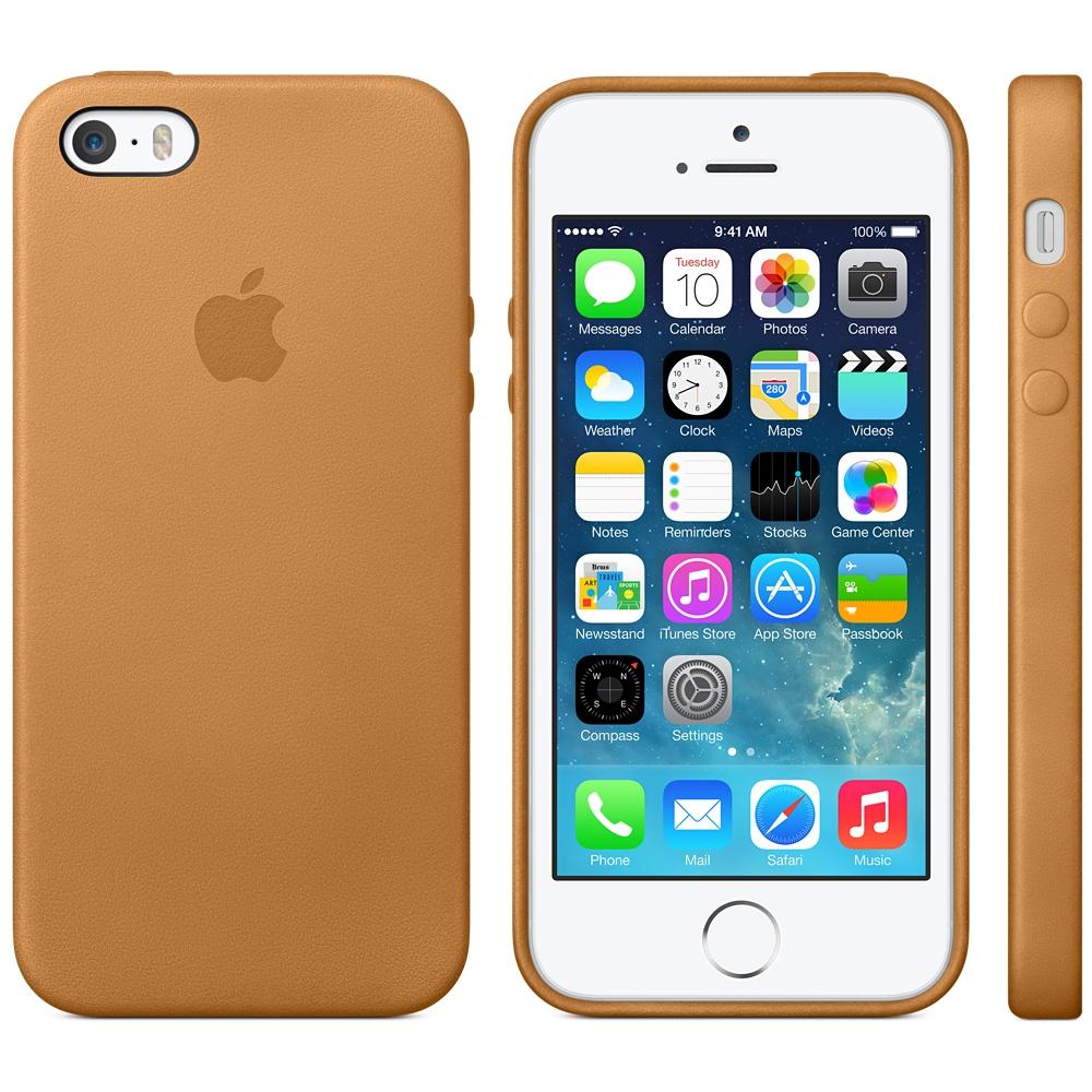 iPhone 5S Silber mit Braunem Ledercase