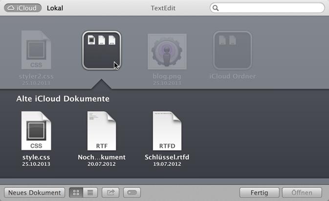 iCloud Datenspeicher