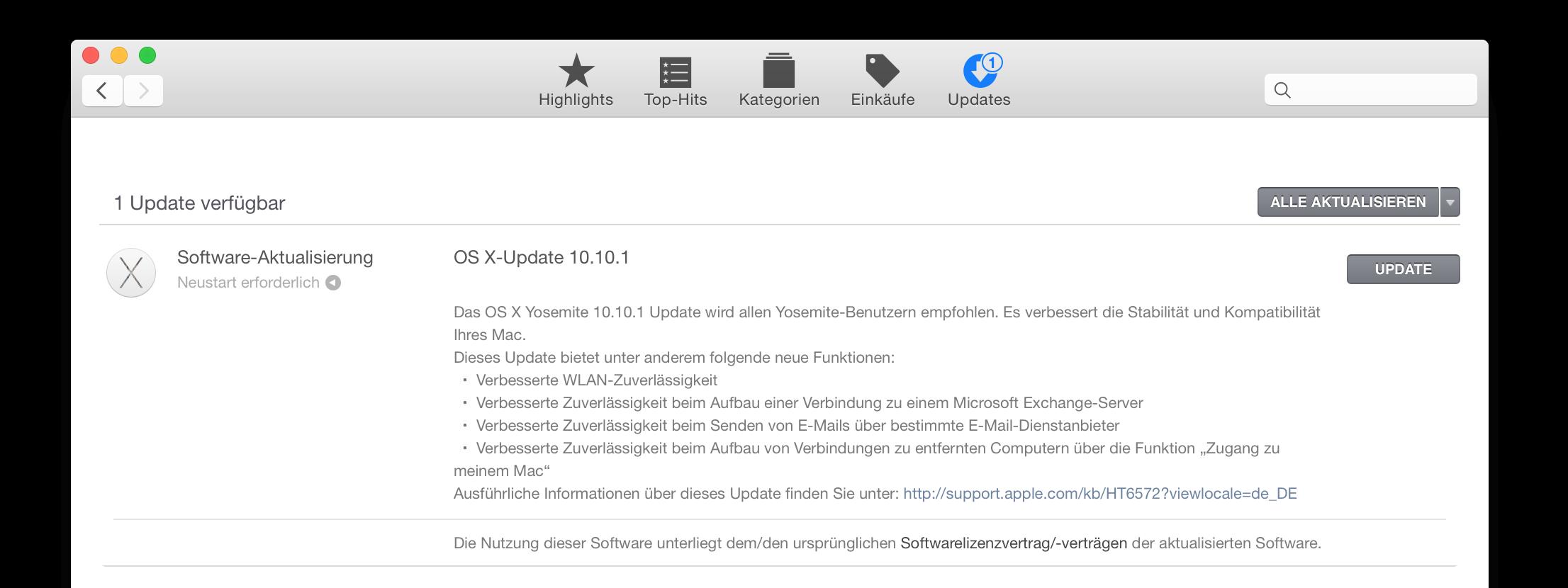 OS X 10.10.1 Update