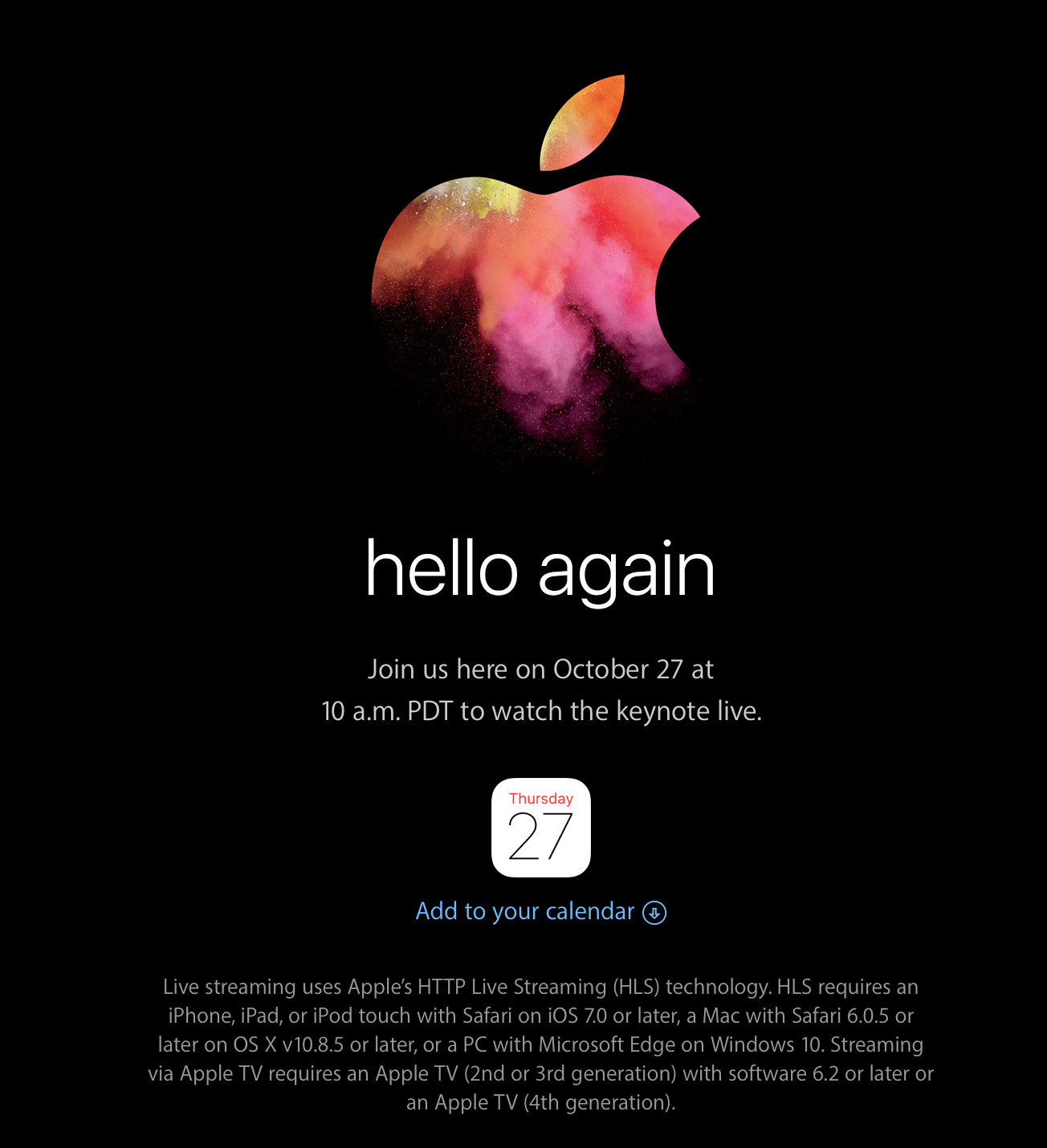 Apple Event Okt 2016